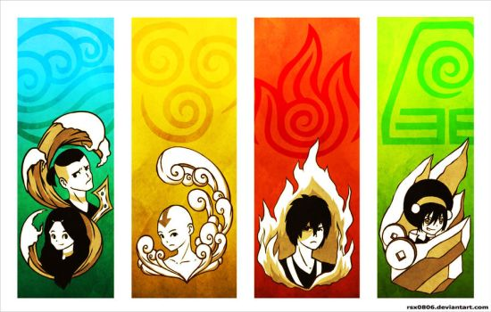 Avatar: The Last Airbender Postcard by rsx0806