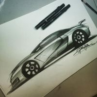 Concept Audi R9 sketch by wilzofheaven123