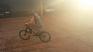 Riding through the sun by No1hereatall