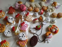 Squishy Charms Polymer Clay Charm Update by mia831