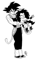 Bardock and his Brat by Budgies