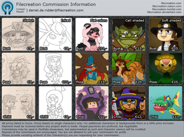 Commission Price Chart 2012 by Filecreation