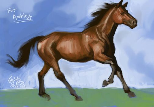 Horse Painting by EJ-Su