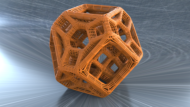 Tetradecahedron by mlindeart