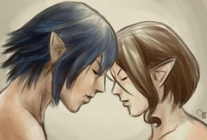 FFXIV: Us by auriond