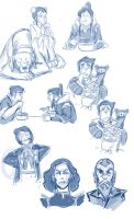 Legend of Korra doodles by pandatails
