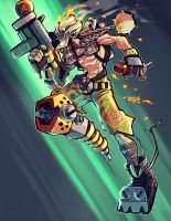 Commission: Overwatch - Junkrat by RobDuenas