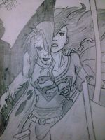 Supergirl and her Zombie form by Kalana321