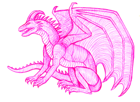 Pink Dragon by qwerty1198
