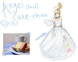 introducING: Angel Food Cake-chan by otakujeanette