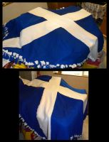 Scottish Flag Blanket by ChristinaH292
