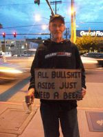 Honest Homeless Man by discountabortions