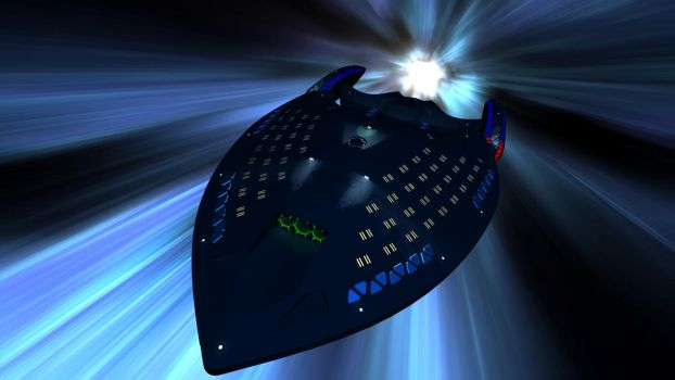 The USS Venerator in Slipstream by Doomsday-Device