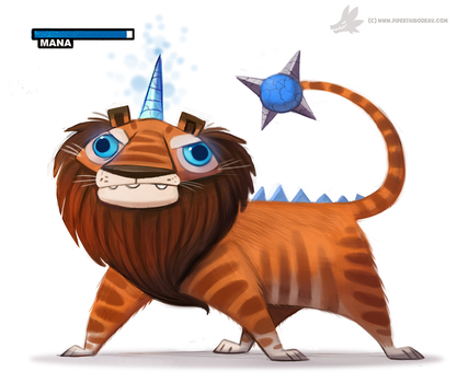 Daily Painting 891# 'Bred for its skills in magic' by Cryptid-Creations