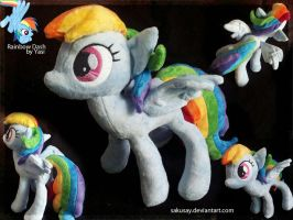 My little Pony FiM - Second Rainbow Dash Plush by SakuSay