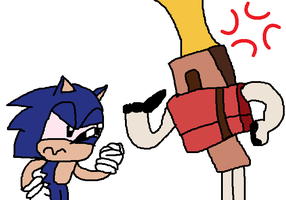 Bored #1 - Hoborg and Drunk Sonic by Sonicbooom1212
