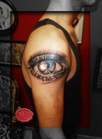 Photorealistic Eye Tattoo by loop1974