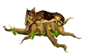 Kitty on a tree. by xXlittleCupcakeXx
