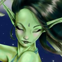 Undine - face detail by jasminedragon