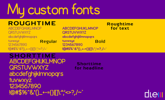Custom fonts by DLEDeviant