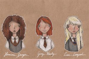 Harry Potter girls by Endofmarch