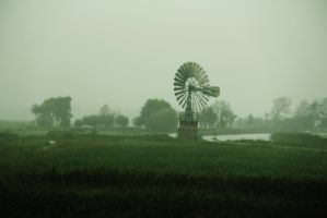 Dutch Windmill on a Drizzle Day by averyskees
