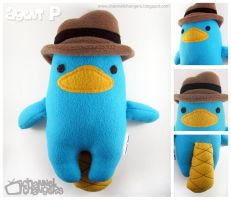 Agent P Plush by ChannelChangers