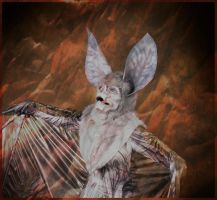Grey Bat Creature by BlueHyena