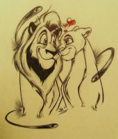 LK2-Kovu and Kiara by BenjiLion09