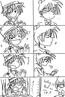 KaitoxConan Comic Short 1 no color by mimidan