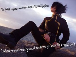 Cosplay: Lelouch: Ragged cloth by hyacinthess