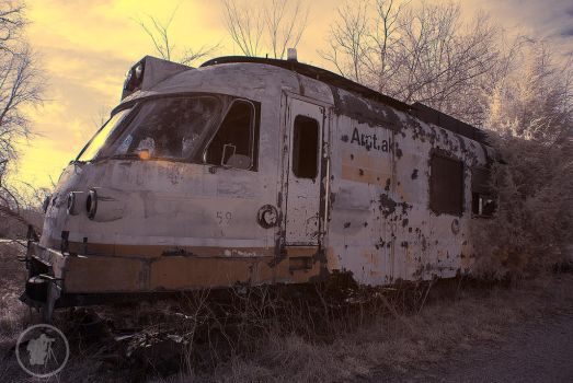 Infra Red Abandoned Amtrak in Indiana by DARRYL-SMITH