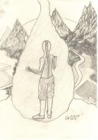 Avatar Aang. (Fangirl sketch extravaganza!) by Lazyklamer
