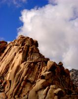 Granite and Mojave Sky by Geotripper