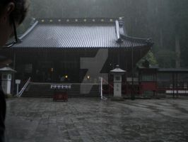 Rain on the temple by MurasakiChibiNeko