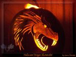Halloween Dragon illuminated by LarraChersan
