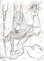 Anubis, God of the Dead by El-Ronin