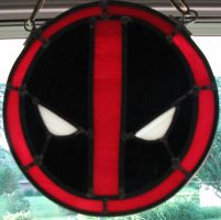 Deadpool Logo Stained Glass by AutobotWonko