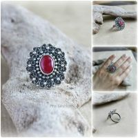 Ruby in Sterling Silver Lace by taniri