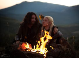 The Fire [Aragorn x Legolas cosplay] by the-ALEF