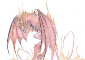 Demonic dragon by Flying-With-Dragons