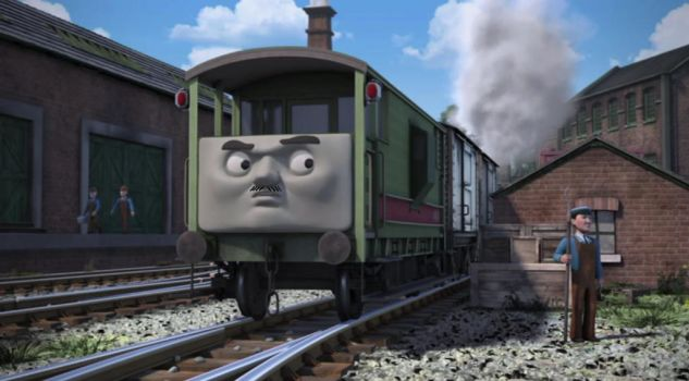 Bradford the Brake Van with a mustache by 76859Thomasreturn