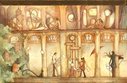Four Stories : Upper Rooms by scarlet-dragonchild