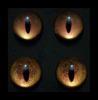 Amber Arctic fox eyes by KandorinCreations