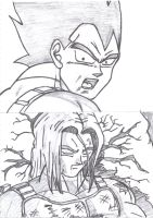 DBZ SB Vegeta and Trunks by TheRagingDeadStudio