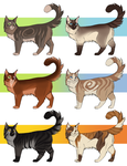 cat adoptables 1/6 open by ClimbToTheStars