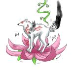Flower jumping Ammy color by brown-she-wolf