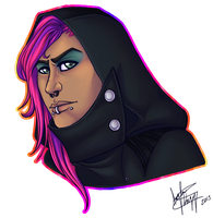 Hooded Mikael Bust by VenomousSoliloquy