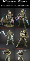 Custom Halo 3 Master Cheif 2 by KyleRobinsonCustoms