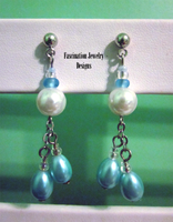 Pearl Drop Earrings by BloodRed-Orchid